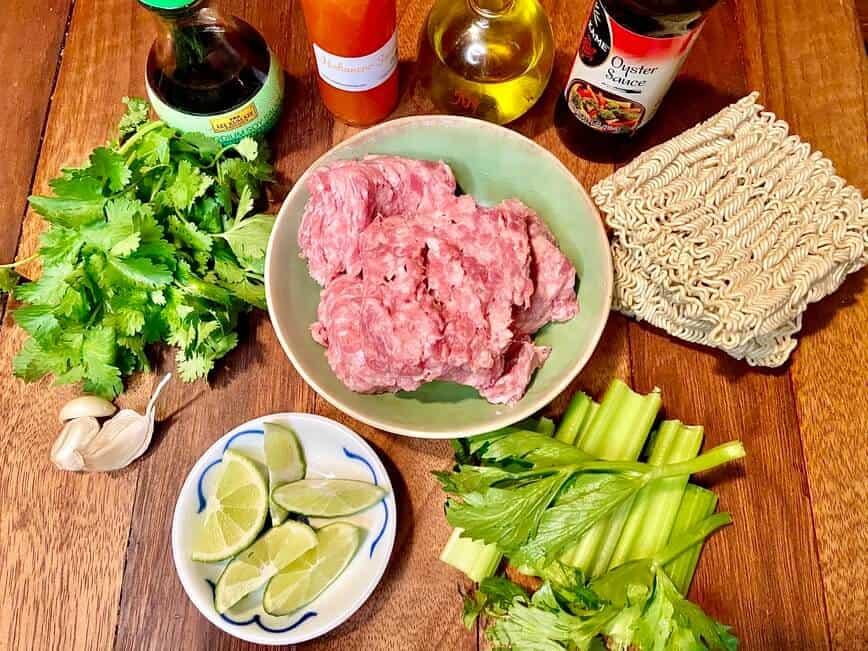 Ground Pork Ramen - Ingredients (Photo by Erich Boenzli)